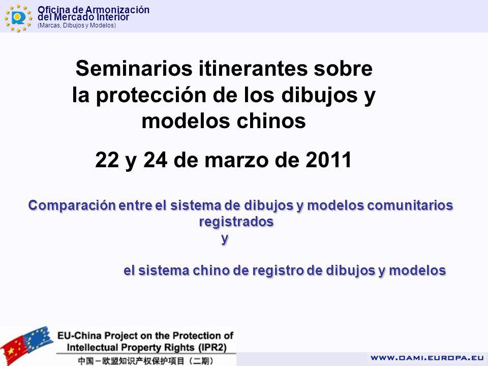 Seminarios itinerantes sobre la protección de los dibujos y modelos chinos