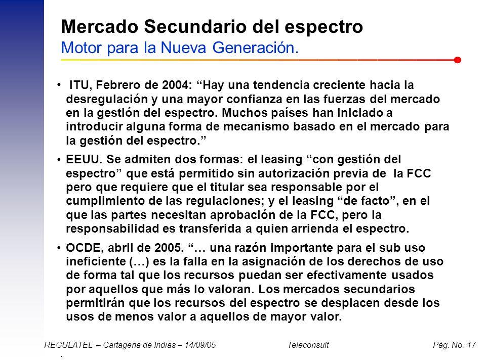 Mercado Secundario del espectro Motor para la Nueva Generación.