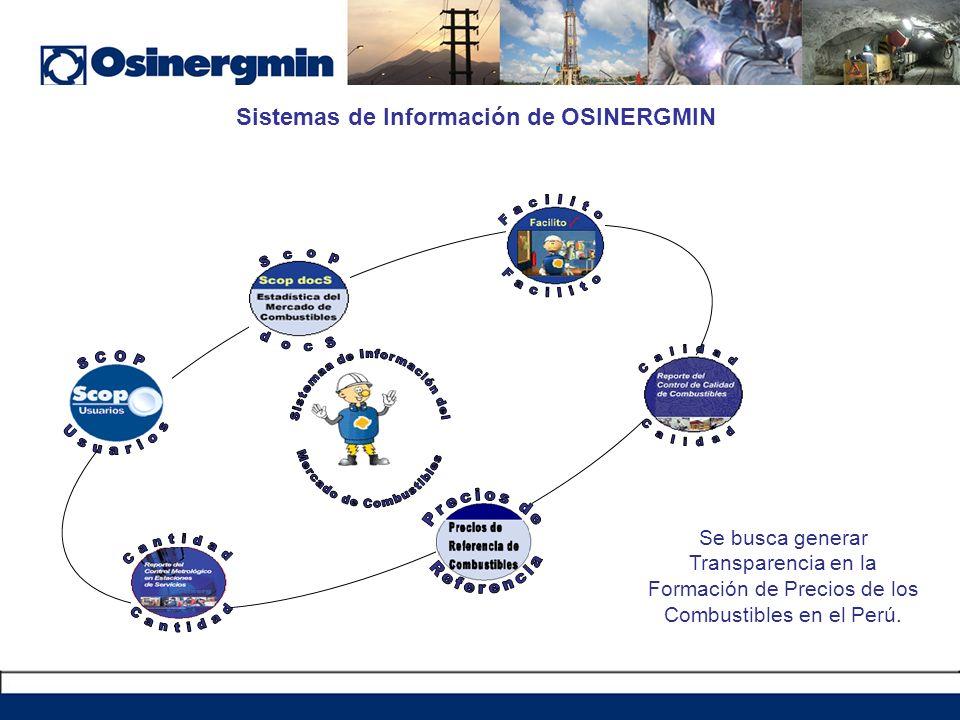 Sistemas de Información de OSINERGMIN