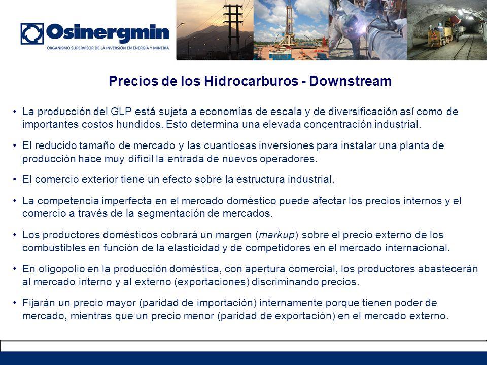Precios de los Hidrocarburos - Downstream