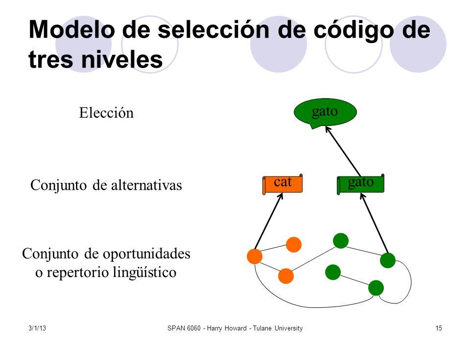 Modelo de selección de código de tres niveles