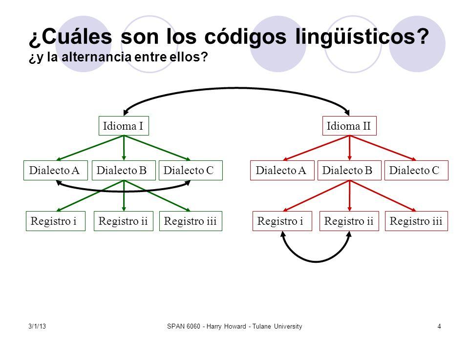 ¿Cuáles son los códigos lingüísticos ¿y la alternancia entre ellos