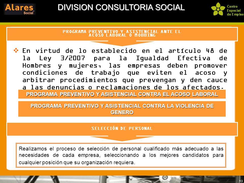 DIVISION CONSULTORIA SOCIAL