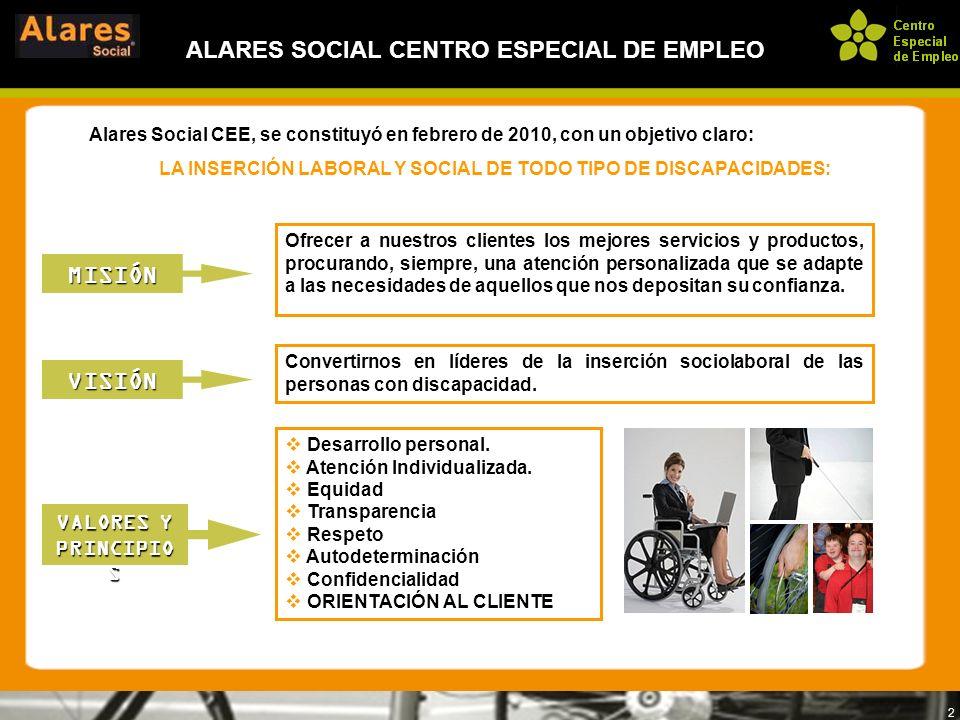 ALARES SOCIAL CENTRO ESPECIAL DE EMPLEO