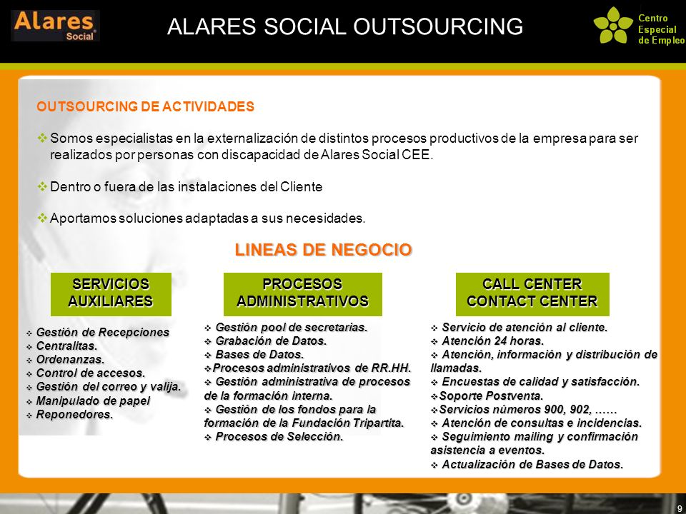 ALARES SOCIAL OUTSOURCING