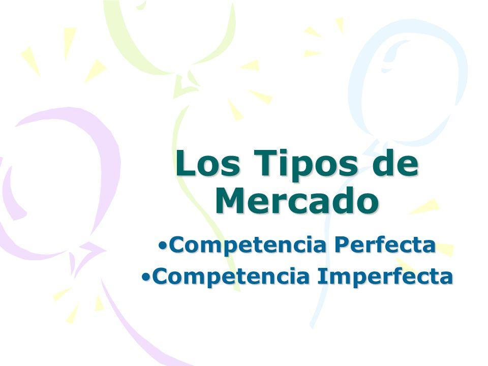 Competencia Perfecta Competencia Imperfecta