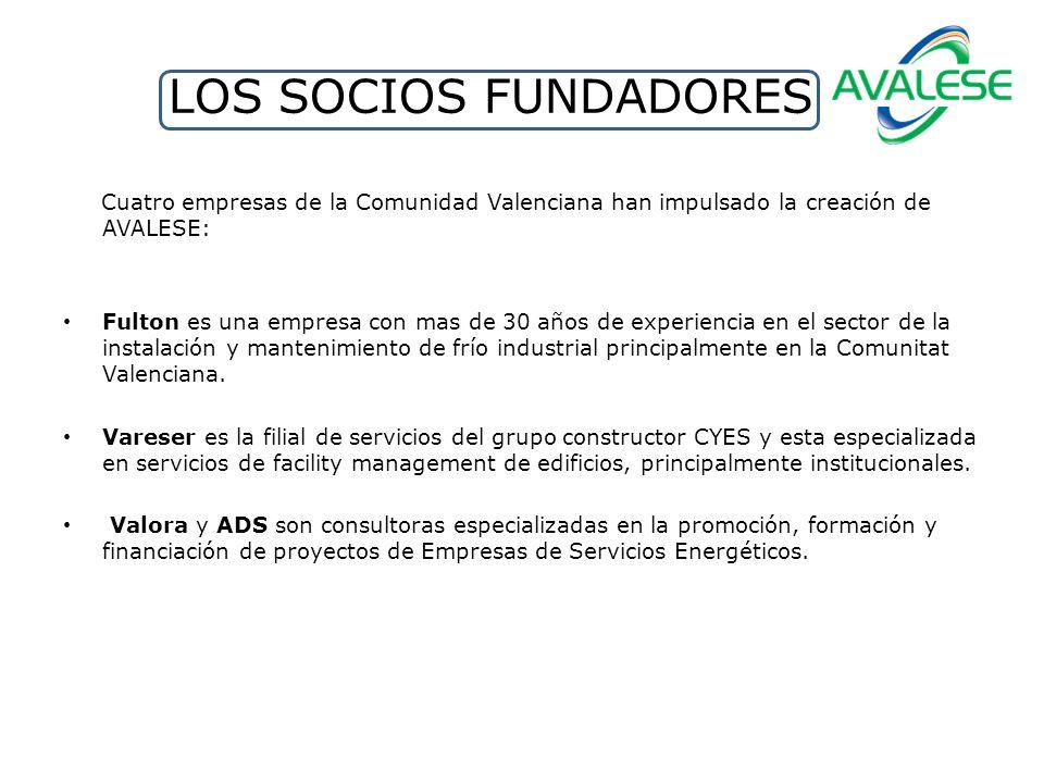 LOS SOCIOS FUNDADORES Cuatro empresas de la Comunidad Valenciana han impulsado la creación de AVALESE: