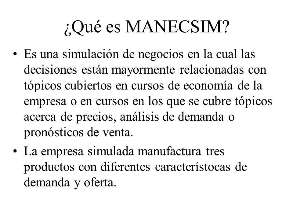 ¿Qué es MANECSIM