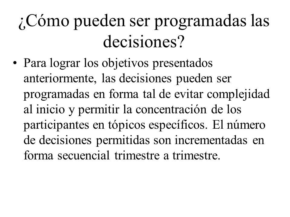 ¿Cómo pueden ser programadas las decisiones