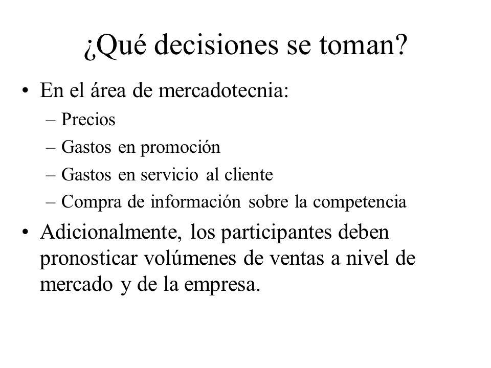 ¿Qué decisiones se toman