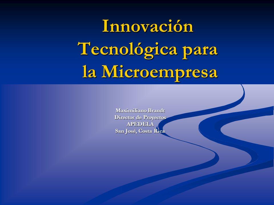 Innovación Tecnológica para la Microempresa