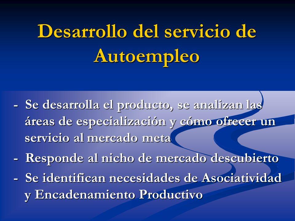Desarrollo del servicio de Autoempleo