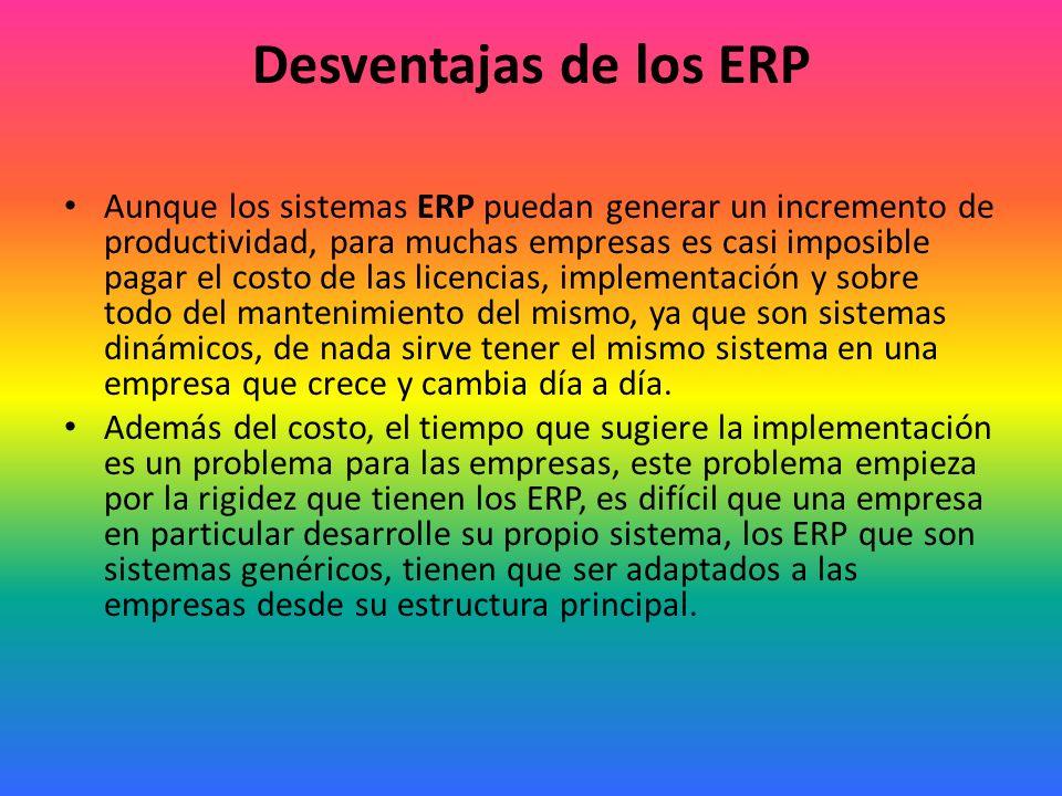 Desventajas de los ERP