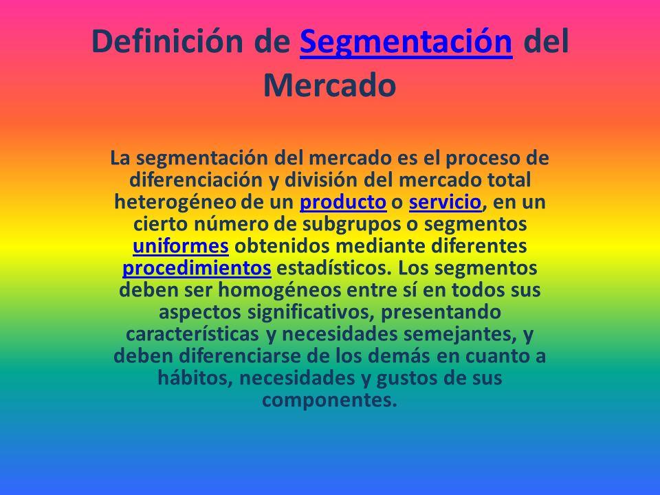 Definición de Segmentación del Mercado