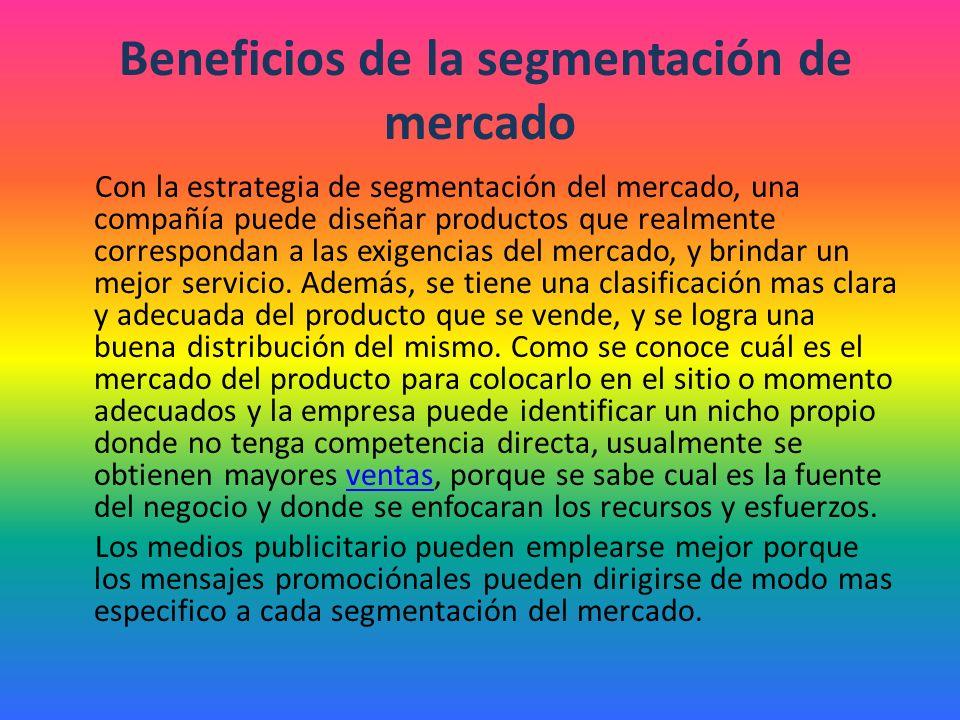 Beneficios de la segmentación de mercado
