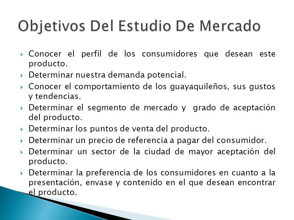 Objetivos Del Estudio De Mercado