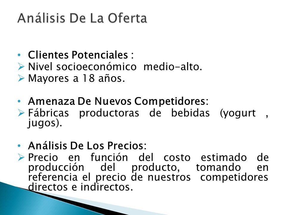 Análisis De La Oferta Clientes Potenciales :