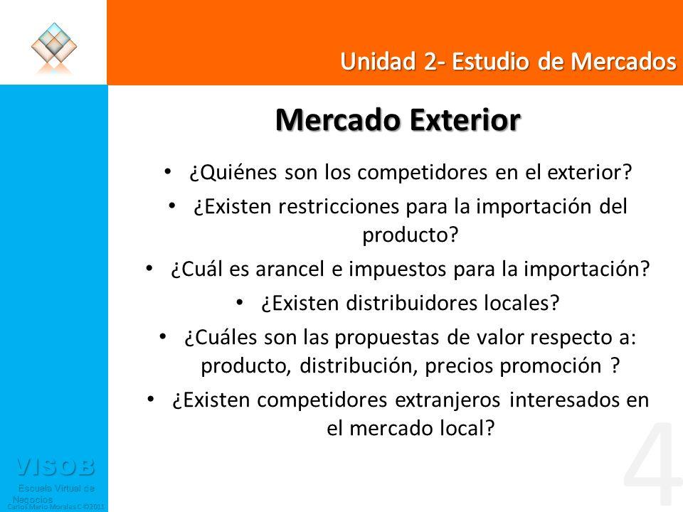 4 Mercado Exterior Unidad 2- Estudio de Mercados