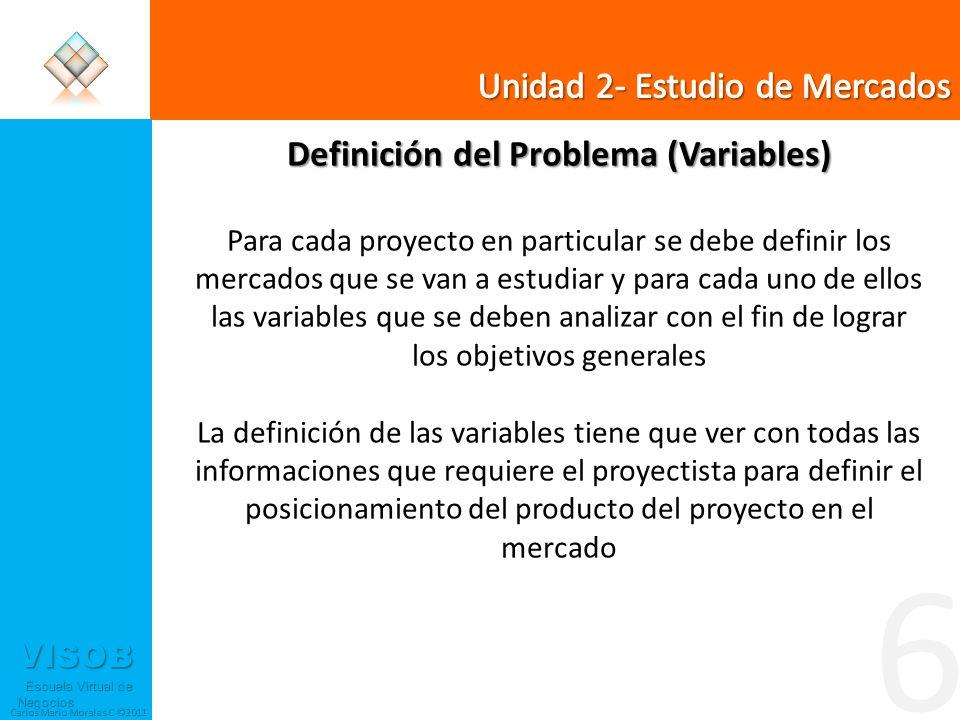 Definición del Problema (Variables)