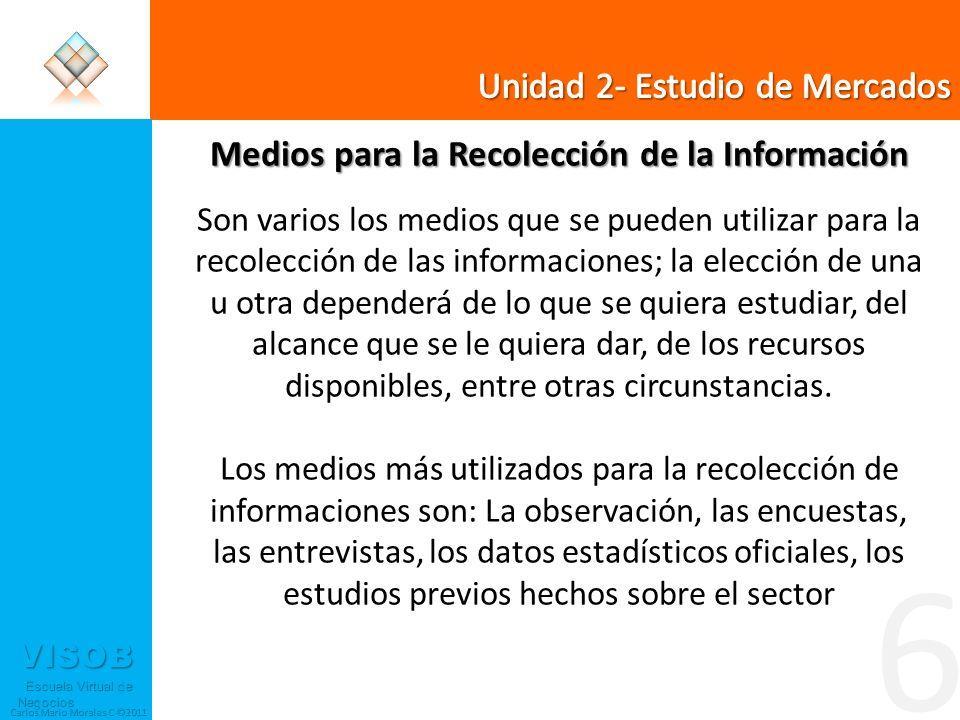 Medios para la Recolección de la Información