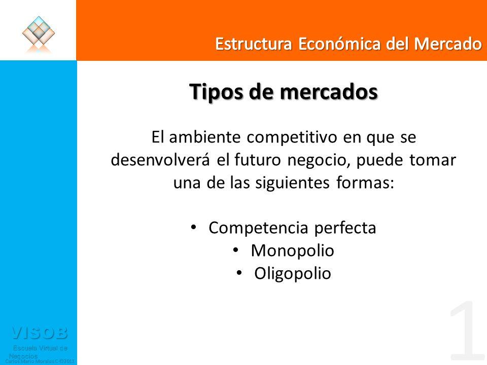 1 Tipos de mercados Estructura Económica del Mercado