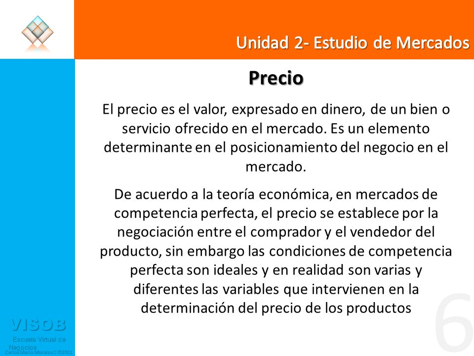 6 Precio Unidad 2- Estudio de Mercados