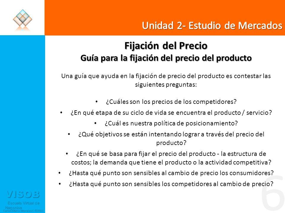 6 Unidad 2- Estudio de Mercados Fijación del Precio