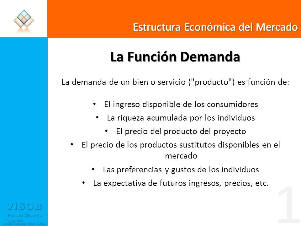 1 La Función Demanda Estructura Económica del Mercado
