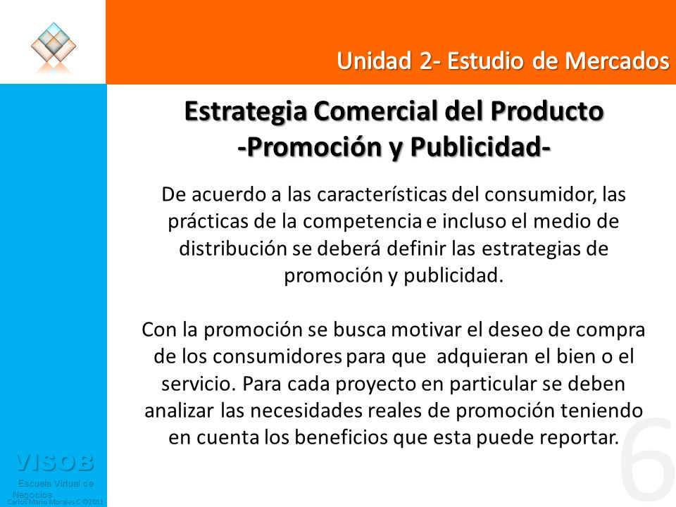 Estrategia Comercial del Producto -Promoción y Publicidad-