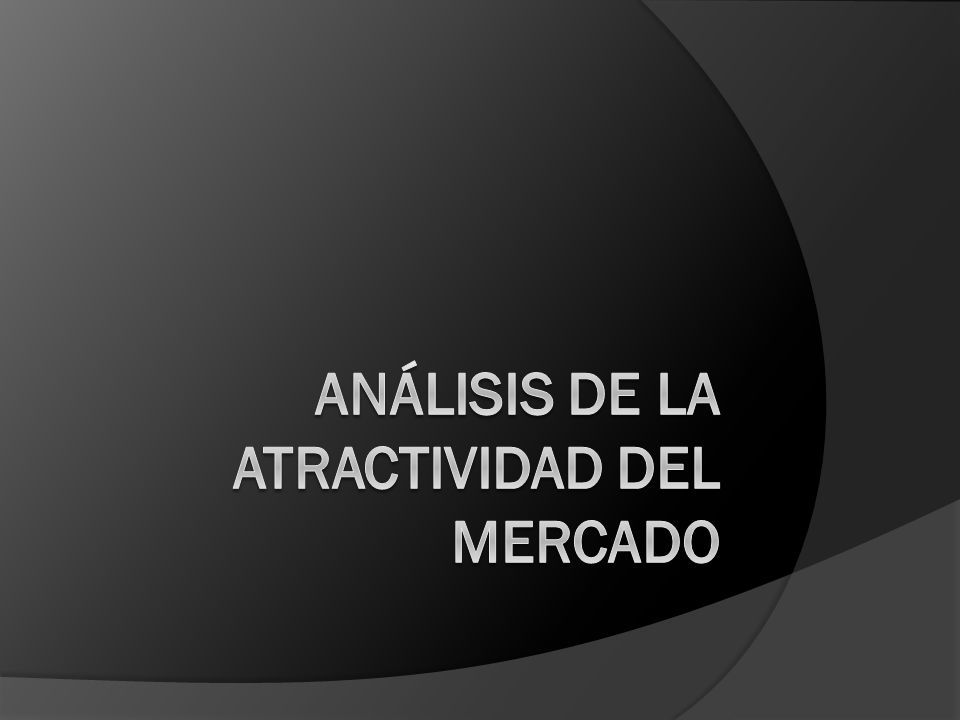 Análisis de la atractividad del mercado
