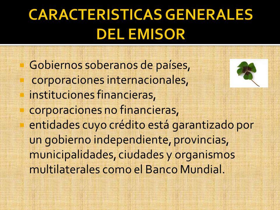 CARACTERISTICAS GENERALES DEL EMISOR