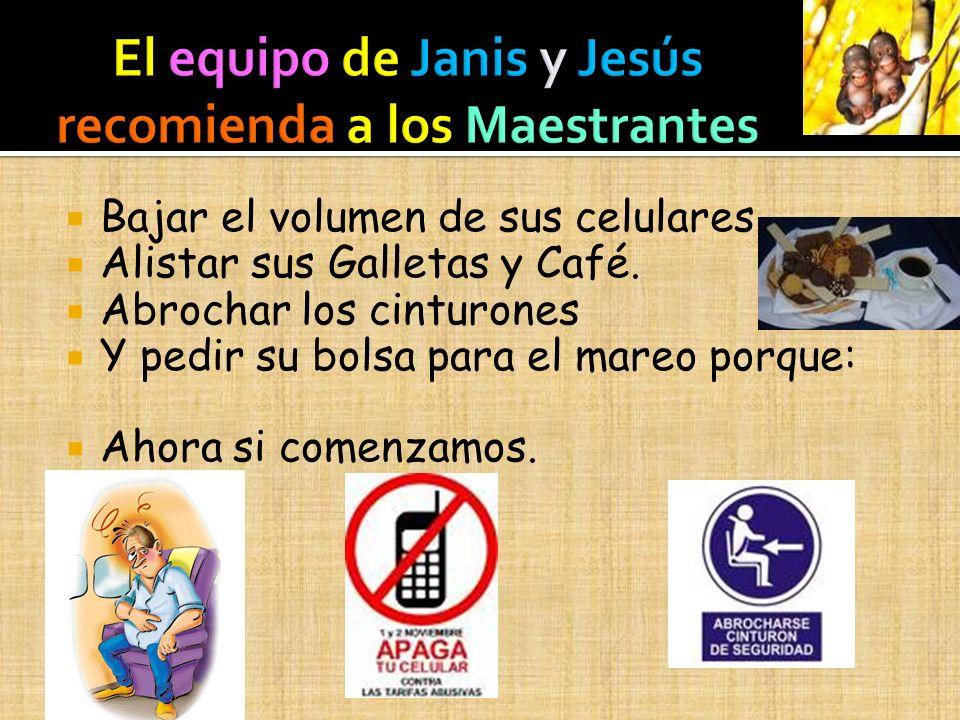 El equipo de Janis y Jesús recomienda a los Maestrantes