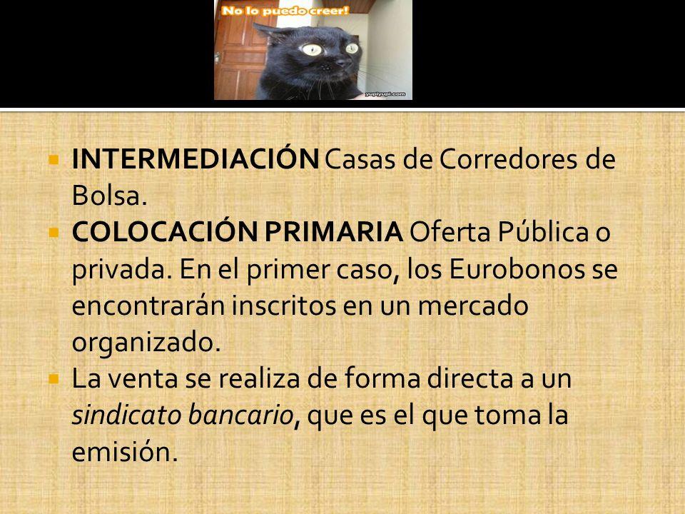 INTERMEDIACIÓN Casas de Corredores de Bolsa.