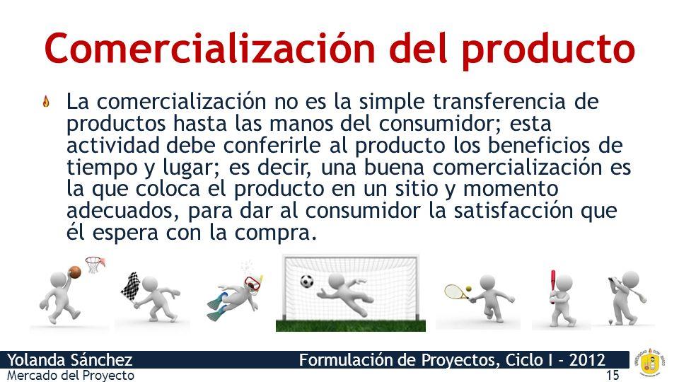 Comercialización del producto