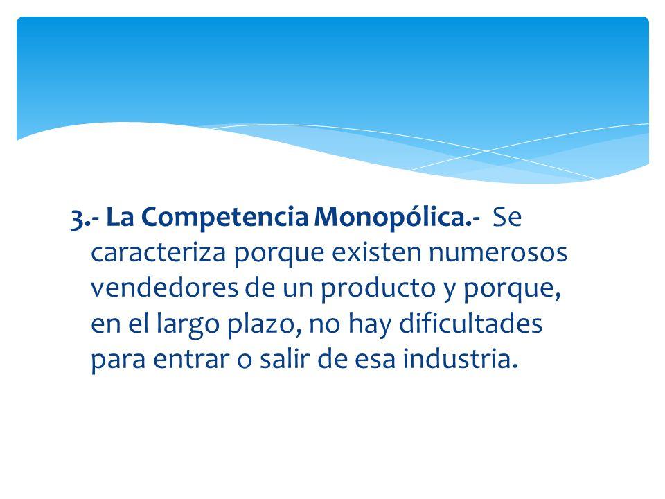 3. - La Competencia Monopólica