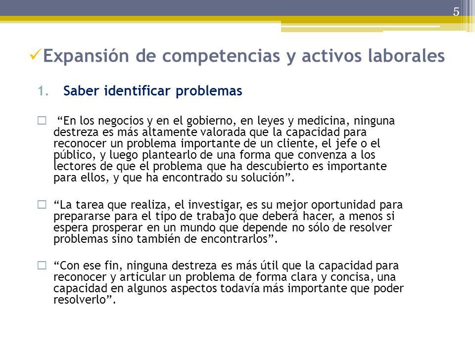 Expansión de competencias y activos laborales