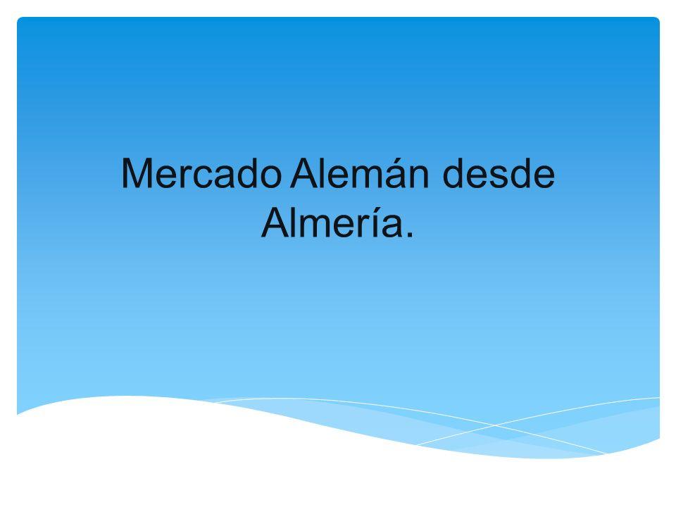 Mercado Alemán desde Almería.