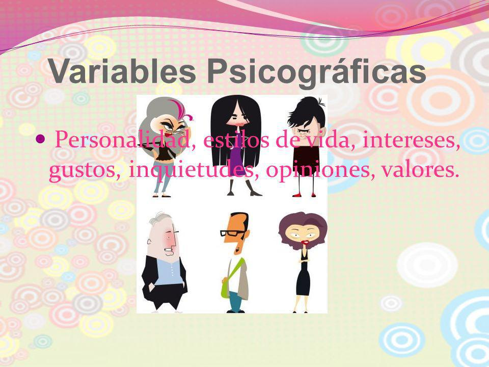 Variables Psicográficas