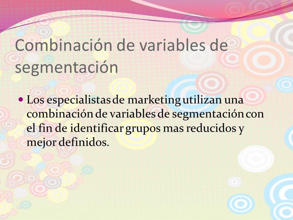 Combinación de variables de segmentación