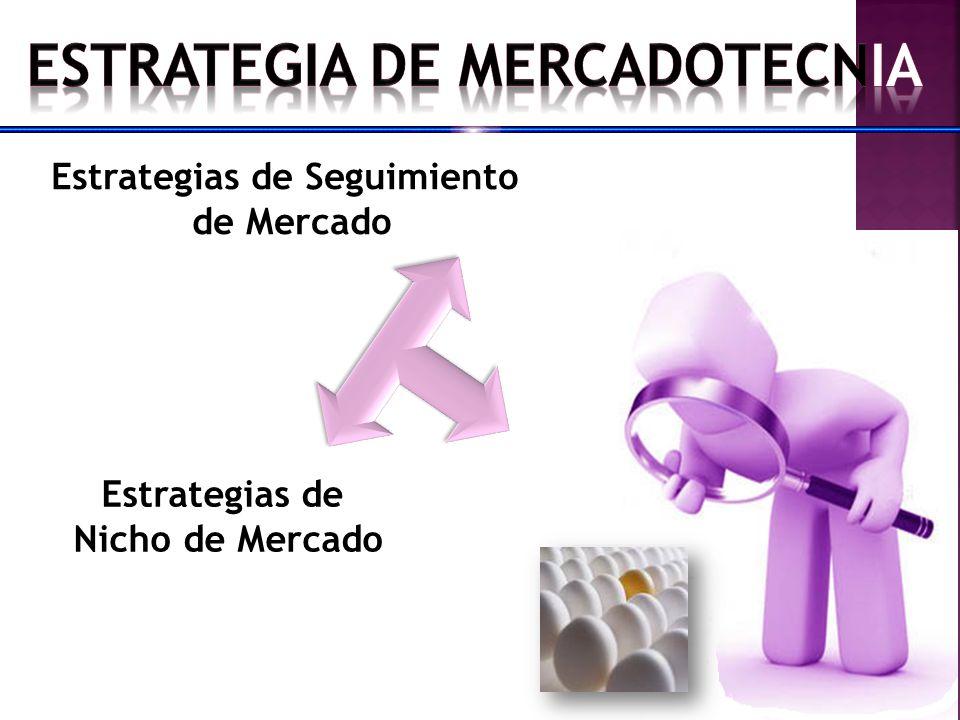 ESTRATEGIA DE MERCADOTECNIA Estrategias de Seguimiento