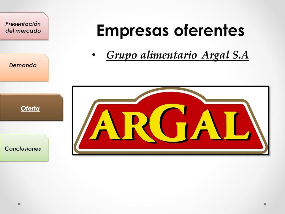 Presentación del mercado Grupo alimentario Argal S.A