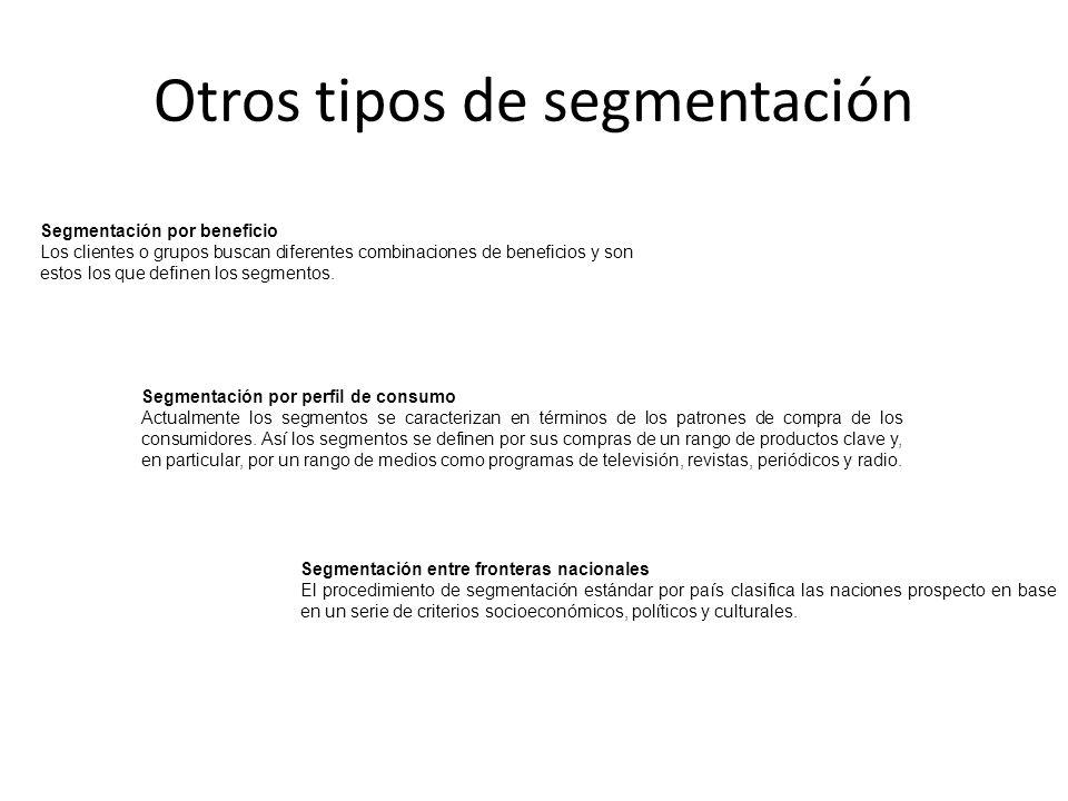 Otros tipos de segmentación