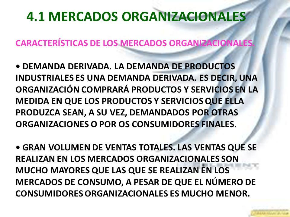 4.1 MERCADOS ORGANIZACIONALES