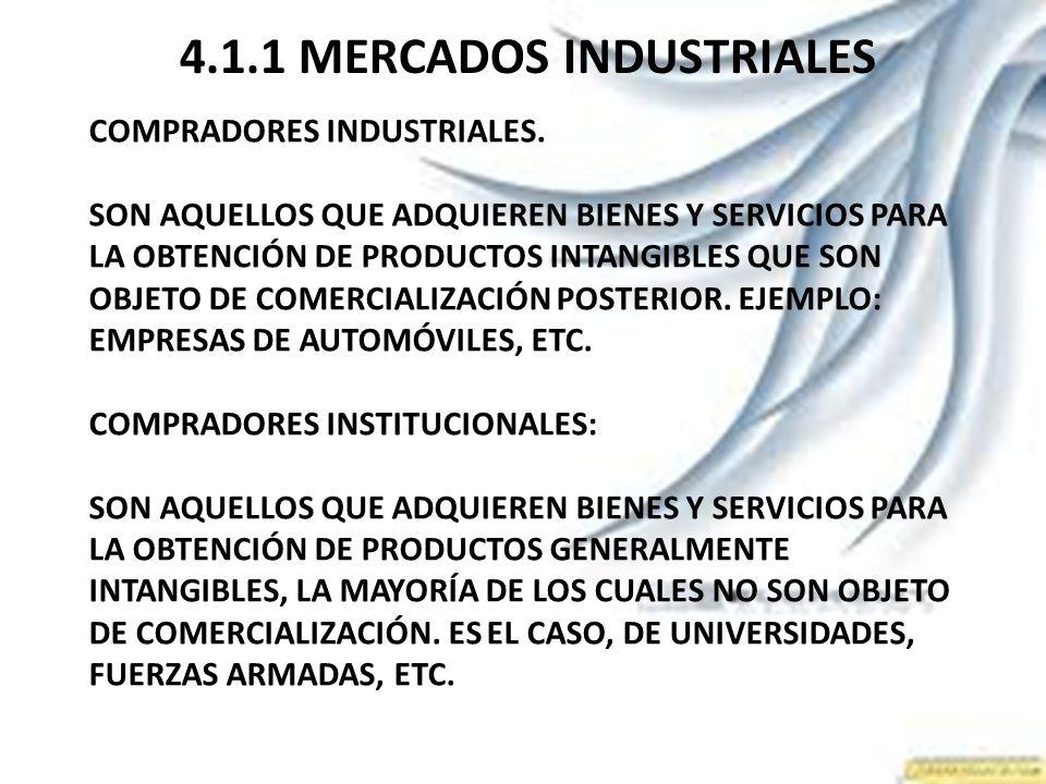 4.1.1 MERCADOS INDUSTRIALES