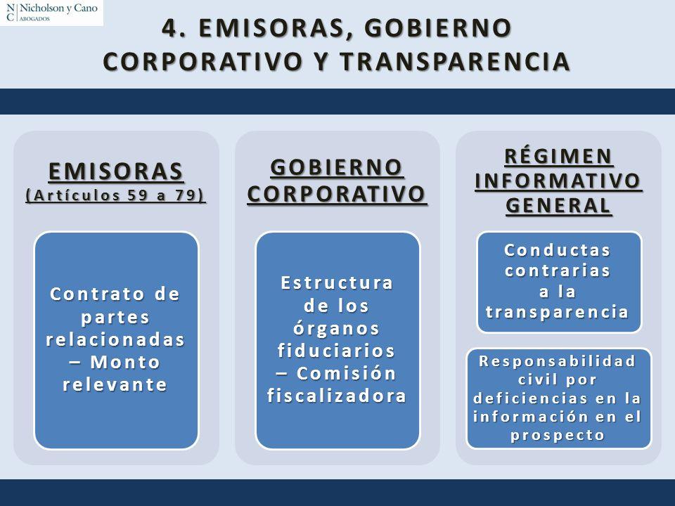 4. EMISORAS, GOBIERNO CORPORATIVO Y TRANSPARENCIA