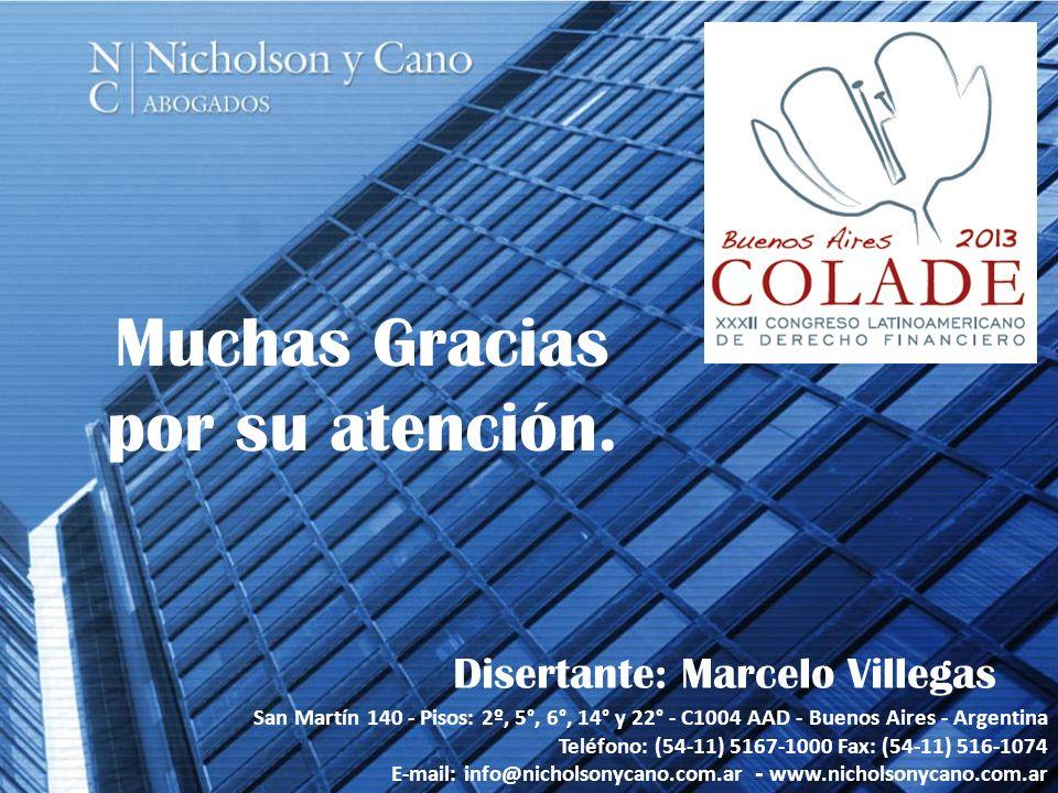 Disertante: Marcelo Villegas
