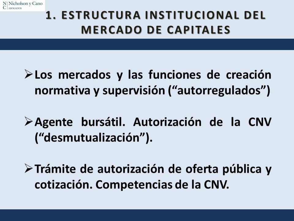 1. ESTRUCTURA INSTITUCIONAL DEL MERCADO DE CAPITALES