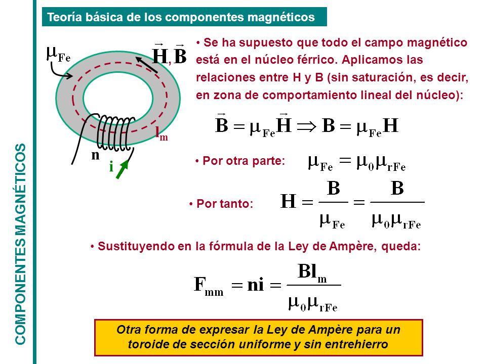 , lm n i COMPONENTES MAGNÉTICOS