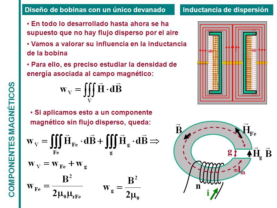 g n i COMPONENTES MAGNÉTICOS Diseño de bobinas con un único devanado