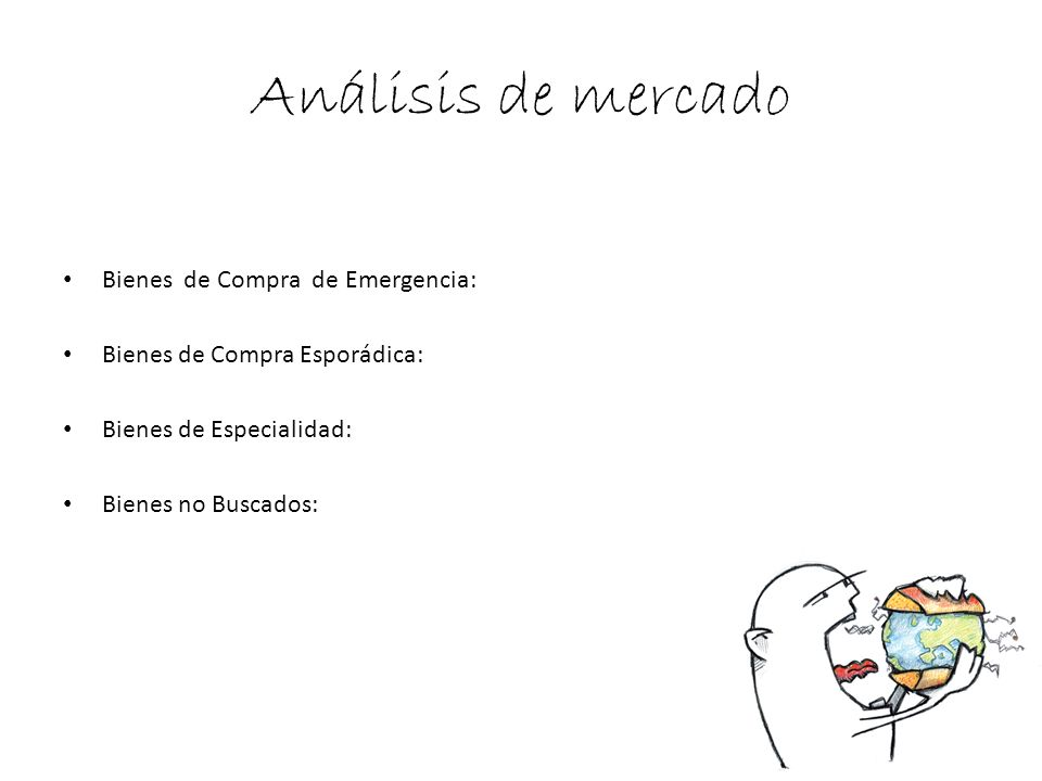 Análisis de mercado Bienes de Compra de Emergencia: